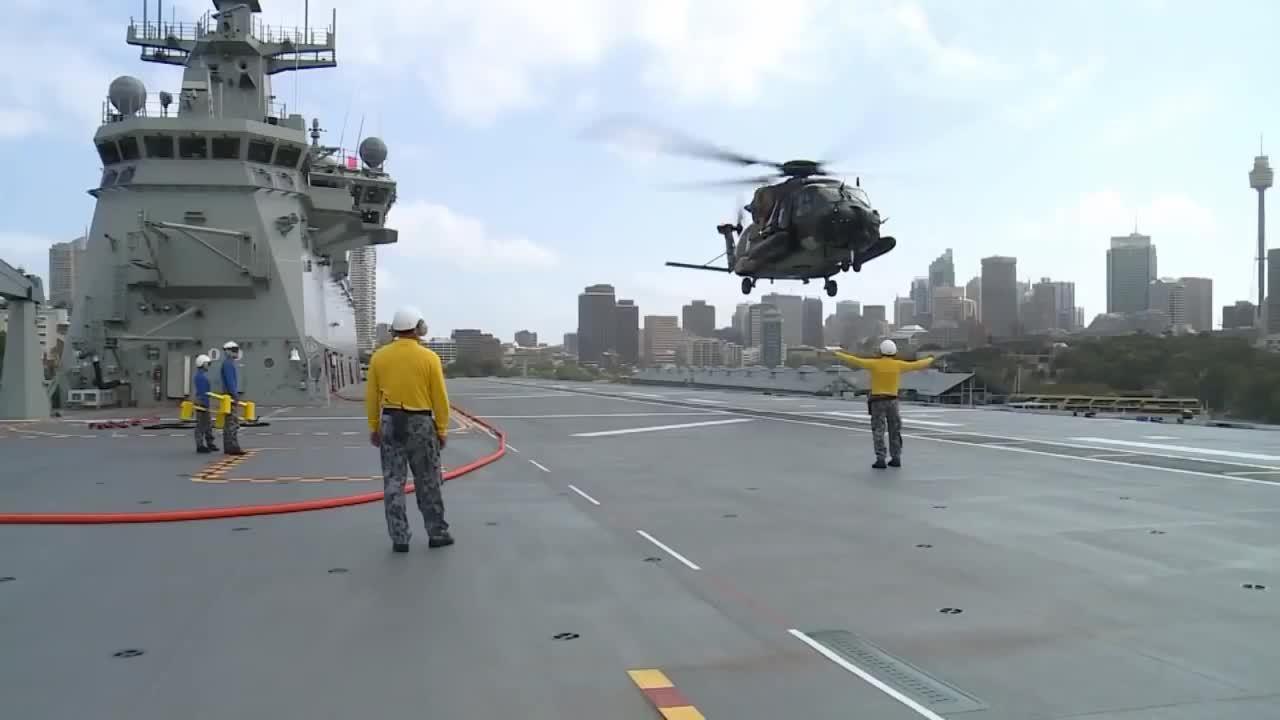 WarplaneGfys, warplanegfys, LHD Canberra first deck landings (reddit) GIFs
