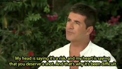 Watch and share Simon Cowell Saying Its Risk On The Factor GIFs on Gfycat