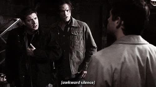 Watch and share Awkward, Silence, Awkward Silence, Sam, Dean GIFs on Gfycat