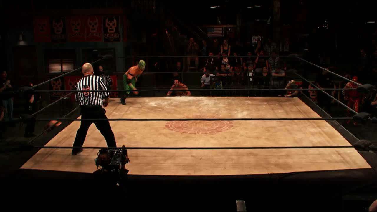 LuchaUnderground, SquaredCircle, luchaunderground, Lucha Underground - El Dragon Azteca Jr. assimilates himself with the temple on his debut! GIFs
