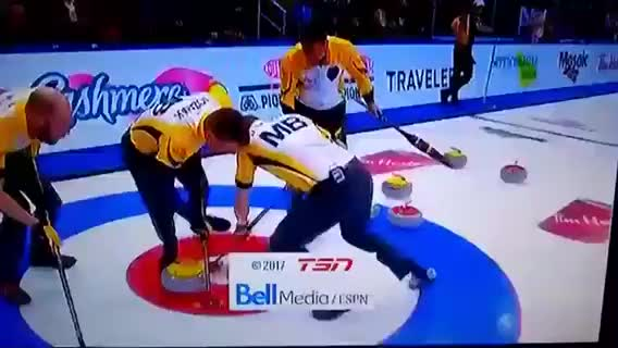 Watch Making the last shot to win the curling game GIF on Gfycat. Discover more whitepeoplegifs GIFs on Gfycat