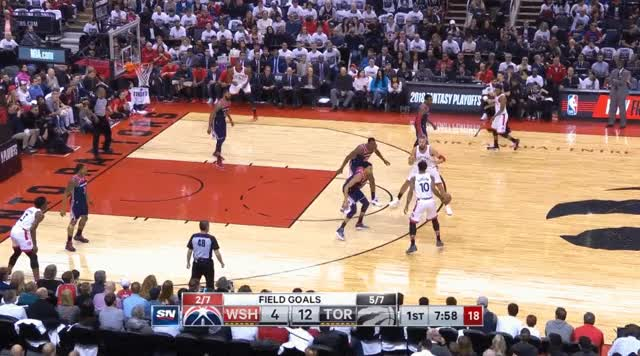Watch and share Derozan Nash To Ibaka Float GIFs on Gfycat