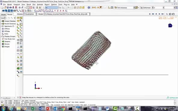 Watch and share Abaqus/CAE SPH Modelling Tutorial: Example- Can Drop Test –Step By Step Method GIFs on Gfycat