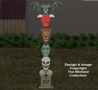 Halloween Totem Pole Woodworking Plans GIFs