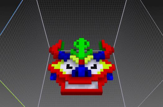 Voxel, devils, Más cara del diablo Voxel GIFs