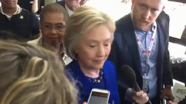 Watch and share Hillary Clinton Has Seizure When Talking To Reporters  GIFs on Gfycat