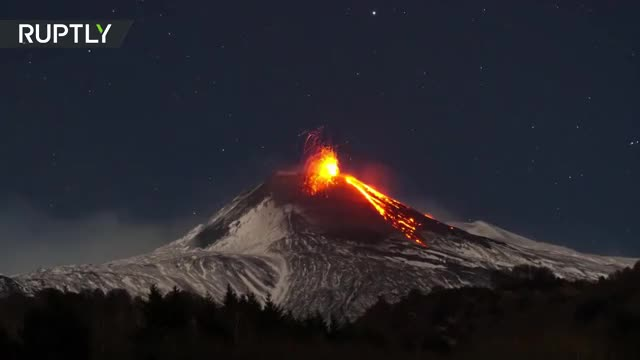 Watch Mount Etna erupts timelapse GIF on Gfycat. Discover more catania, erupted, erupts, italy, lava, mount etna, plumes of gas, volcano GIFs on Gfycat