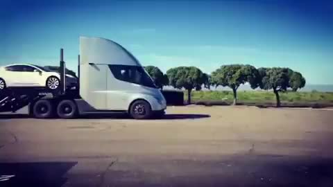 Watch and share Tesla Semi Carrying Tesla Cars GIFs by butabacu on Gfycat