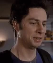 Watch and share Zach Braff GIFs and Anxious GIFs by Reactions on Gfycat