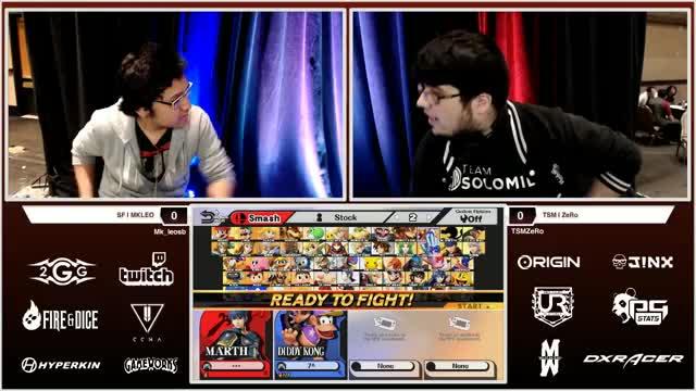 2GGT: ZeRo Saga - SF | MKLeo (Marth) Vs. TSM | ZeRo (Diddy Kong) Losers Semis - Smash Wii U