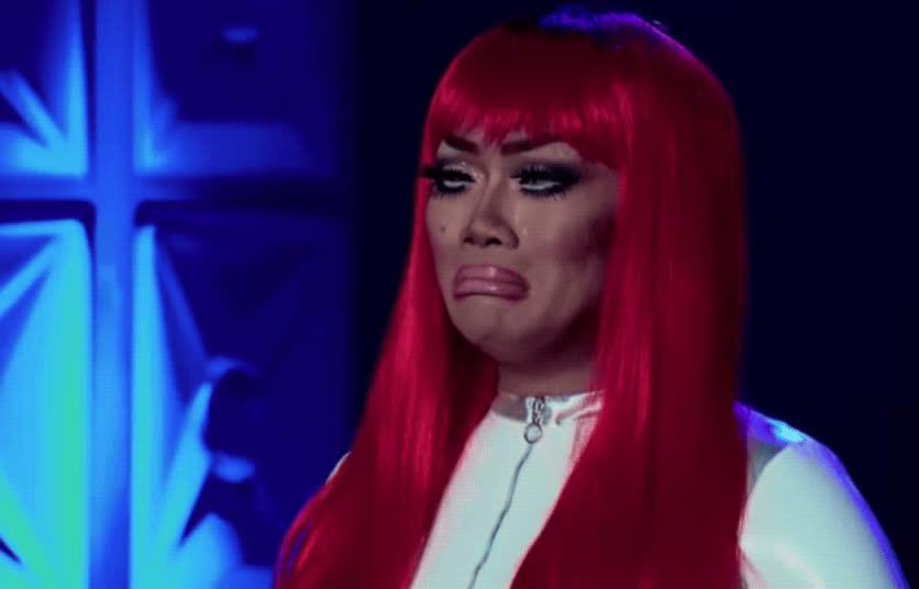 Rupaul, crying, disappointed, jujubee, rupauls drag race, sad, Jujubee Crying GIFs
