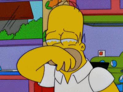 crying, homer simpson, sad, tears, the simpsons, Homer Simpson Crying GIFs