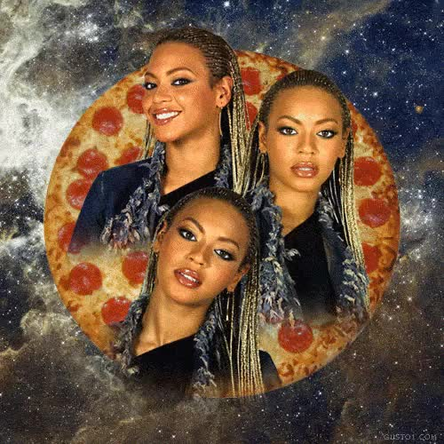 Watch and share Music Beyonce Food Celebs Pizza GIFs on Gfycat