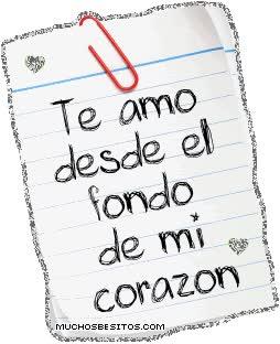 Watch and share Te Amo Desde El Fondo De Mi Corazon animated stickers on Gfycat