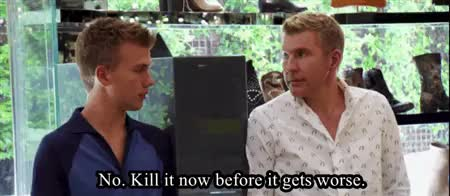 Watch Familiar Attraction GIF on Gfycat. Discover more brother x sister, chase chrisley, chrisley knows best, christmas, gifs, real life, reality tv, savanna chrisley, siblings, tv GIFs on Gfycat