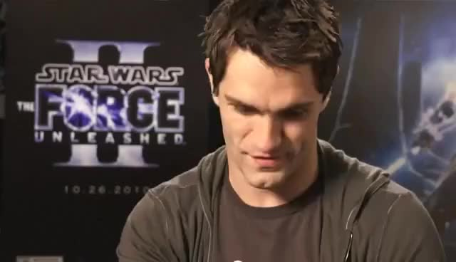 Watch and share Starkiller Interviewed - Force Unleashed 2 Star Sam Witwer - Force'Tober Episode 2 GIFs on Gfycat