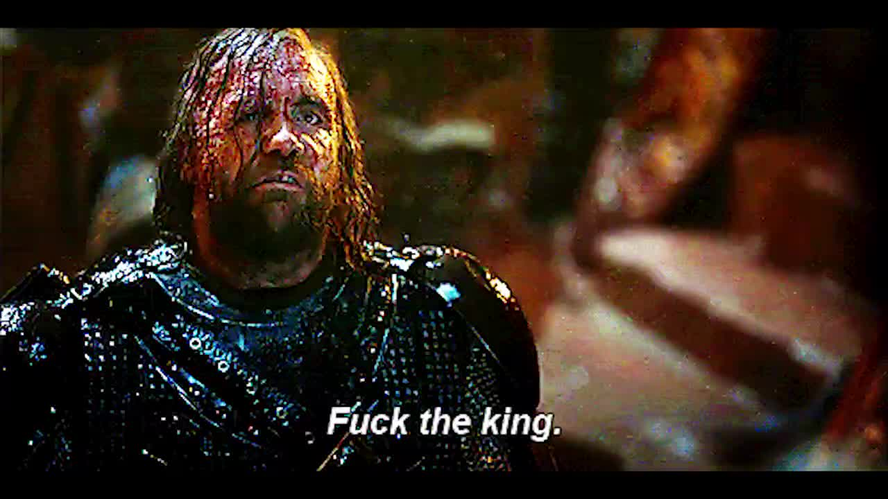 fuck the king, game of thrones, rory mccann, sandor clegane, the hound, The Hound Fuck The King GIFs