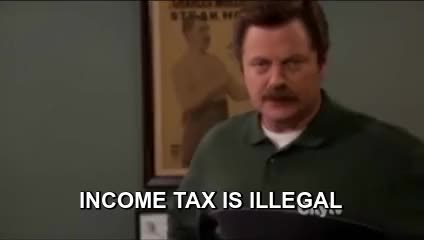 Watch this parks and recreation GIF by Pakalu Papito (@entfanatic) on Gfycat. Discover more Nick Offerman, Parks and Rec, Parks and Recreation, Ron Swanson, illegal, income tax, tax, tax season, taxes GIFs on Gfycat