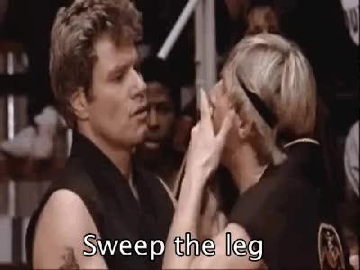 Watch and share Karate Kid Sweep The Leg GIFs on Gfycat