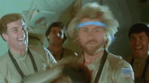 Watch this GIF on Gfycat. Discover more 80s cheez, 80s movie, Barry Bostwick, Megaforce, alpha male, cultmovie, partyhard, rhetthammersmith, rifftrax, tgif GIFs on Gfycat