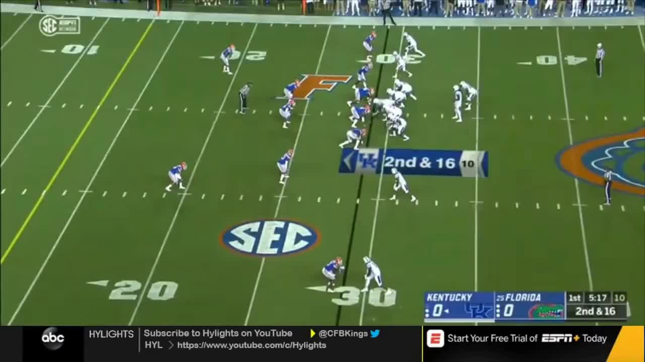 Florida, Kentucky, cfbkings, hylights, Kentucky vs. #25 Florida   2018 CFB Highlights GIFs