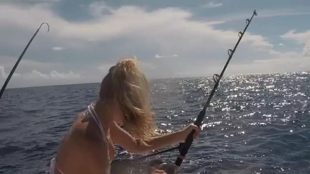 Watch and share Hannah Ferguson GIFs and Fishing GIFs on Gfycat
