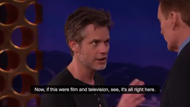 Watch and share Timothy Olyphant GIFs and Conan GIFs on Gfycat