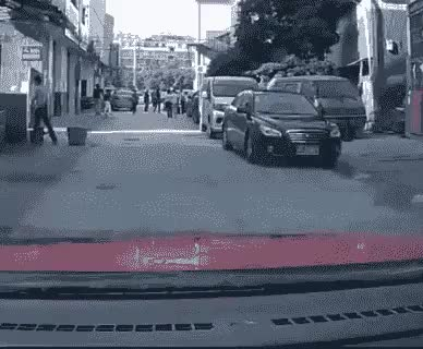 accident, car, car accident, china, funny, nope, scam, scam artist, Meanwhile in China GIFs
