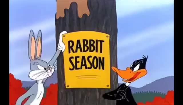 Watch and share Bugs Bunny And Daffy Duck- Hunting Season Posters GIFs on Gfycat