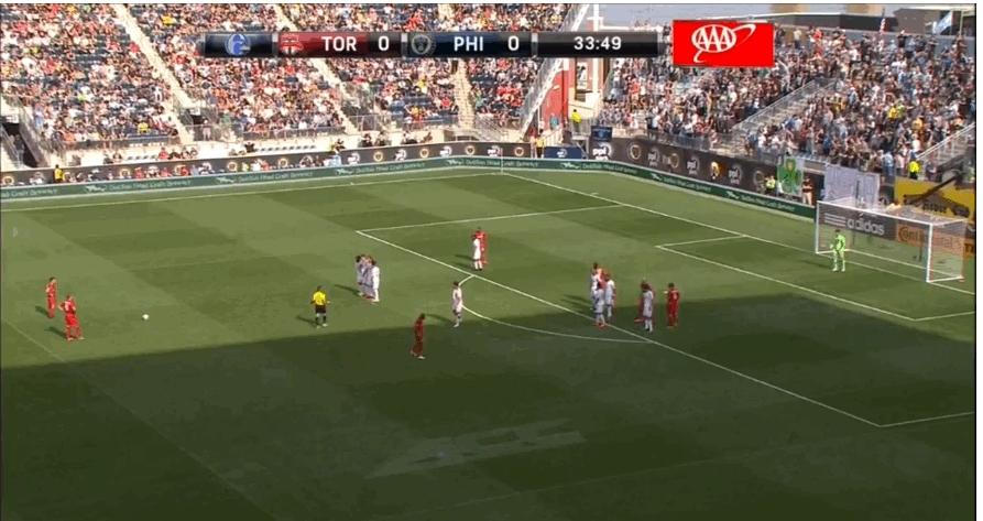 soccer, soccergifs, tfc, Giovinco free kick vs Philadelphia (0-1) (reddit) GIFs