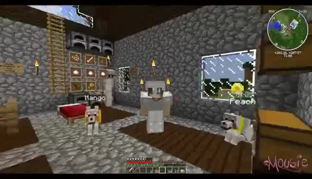 Minecraft | Doggy Talents: Mango and Peach Have A Puppy! (27)