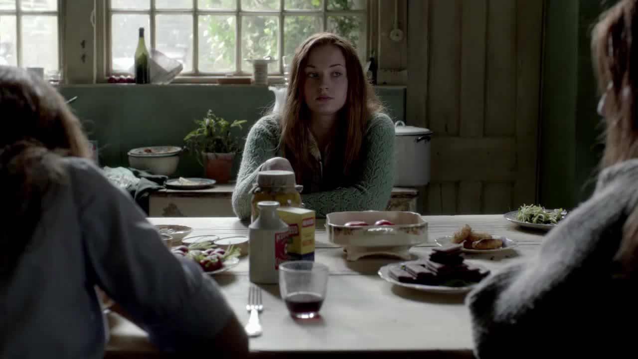 Sophie Turner, sophieturner, 'The Thirteenth Tale' - At the Table [gfy] (reddit) GIFs