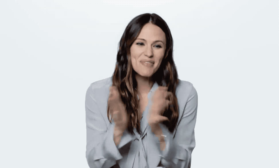 amazing, aw, aww, celebrate, clap, clapping, embarrassed, excited, forward, garner, great, happy, jennifer, my, nervous, oh, omg, wired, yay, yeah, Jennifer Garner is nervous GIFs