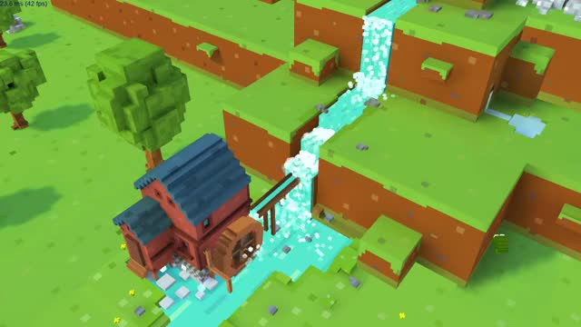 Watch VOXEL WATERFALL? No problem! - Blocky Farm GIF by Tobiasz (@sortris) on Gfycat. Discover more farm, game, mobile GIFs on Gfycat