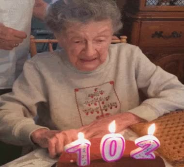 Watch this funny GIF by The GIF Smith (@sannahparker) on Gfycat. Discover more 102, birthday, birthday cake, dentures, funny, grandma, happy birthday, oops GIFs on Gfycat
