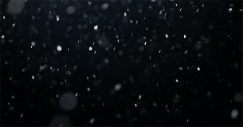 neige qui tombe, flocons, hiver