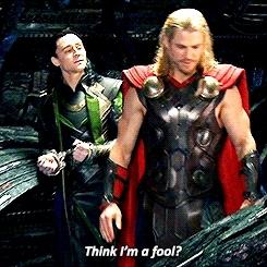 Chris Hemsworth, No faith in me, Tom hiddleston, deja vu, gods, heard it before, hot guys, loki, loki laufeyson, loki of asgard, marvel, marvel cinematic universe, marvel comics, norse gods, superheroes, the god of thunder, thor, Superheroes and playdoh GIFs