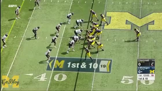 Watch Speight to Crawford Touchdown GIF by MGoBlog (@mgoblog) on Gfycat. Discover more 2017, Cincinnati, Football, Kekoa Crawford, Michigan, Wilton Speight GIFs on Gfycat