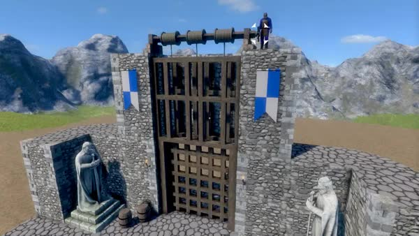 Watch and share Medieval Engineers - Portcullis Demonstration GIFs by giulianosse on Gfycat