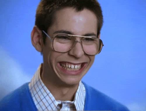 awkward, glasses, laugh, lol, loud, nerd, nerdy, out, smile, Nerdy nerd GIFs