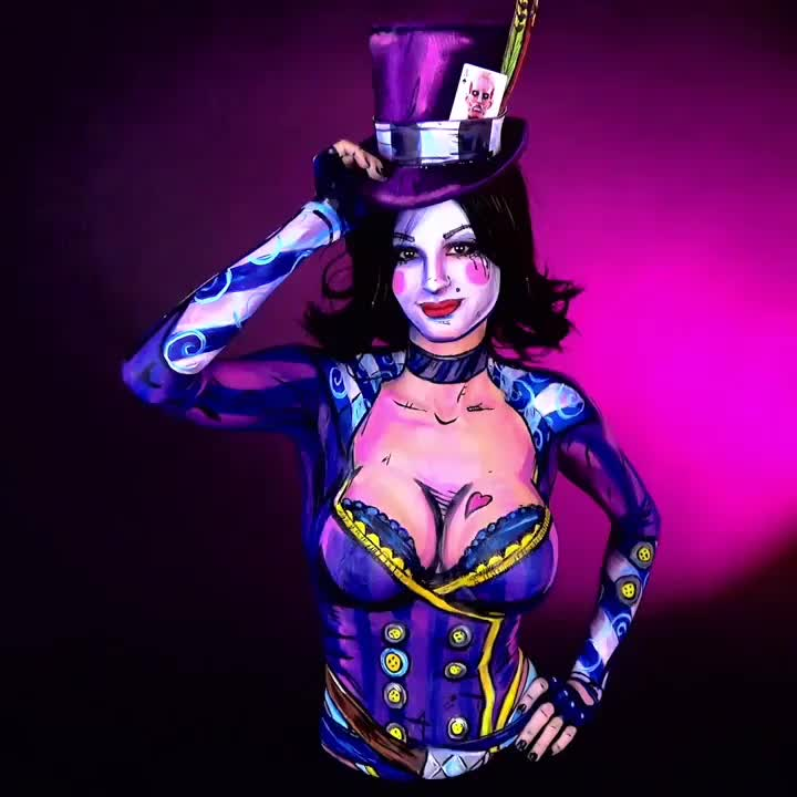 bodyart, bodypaint, borderlands, borderlands2, comicbookmakeup, cospaint, cosplay, facepaint, game, gearbox, madmoxxi, moxxi, sfx, sigmapro, streamer, twitch, twitchcreative, twitchtv, videogame, videogames, Mad Moxxi 🎨 Painted on Aug 17th 🎨 http://www.twitch.tv/kaypikefashion 🎨 I AM PAINTING AGAIN TODAY October 5th Here is the Print: 🖼 http: GIFs