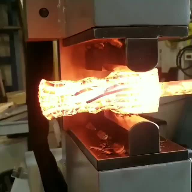 Watch and share Forging Steel With 25 Tons Of Force GIFs on Gfycat