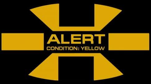 Watch and share Yellow Alert GIFs by citizenkai on Gfycat