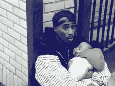 2pac, hip hop, hiphop, music, tupac, tupac shakur, brendas got a baby thug life gif GIFs
