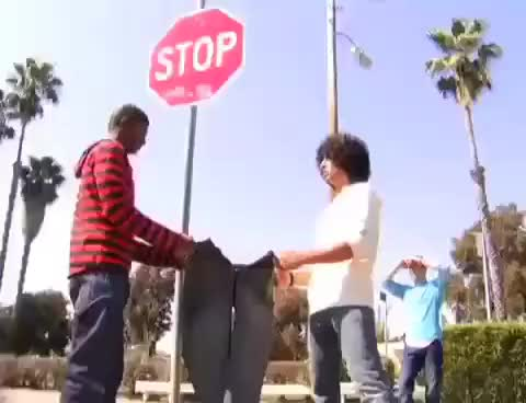 Watch Pants JUMP GIF on Gfycat. Discover more funny, jeans, pants, stopsign GIFs on Gfycat