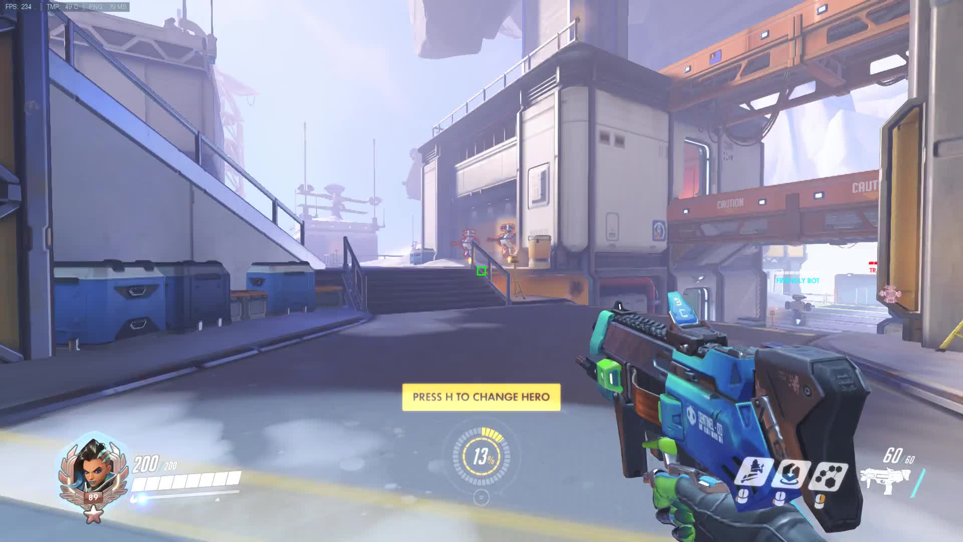 Sombra Dynamic Square Crosshair Boxhair Overwatch