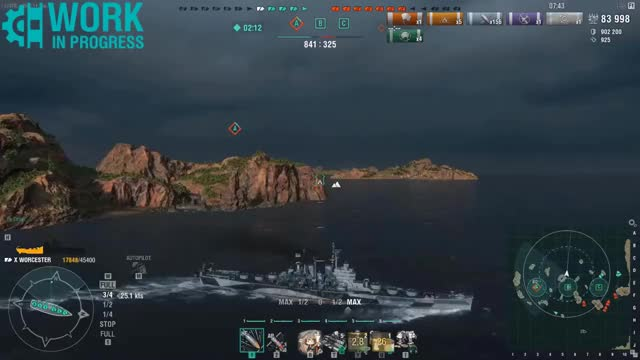 World of Warships Best Moments #20 WOOSTER Edition GIF