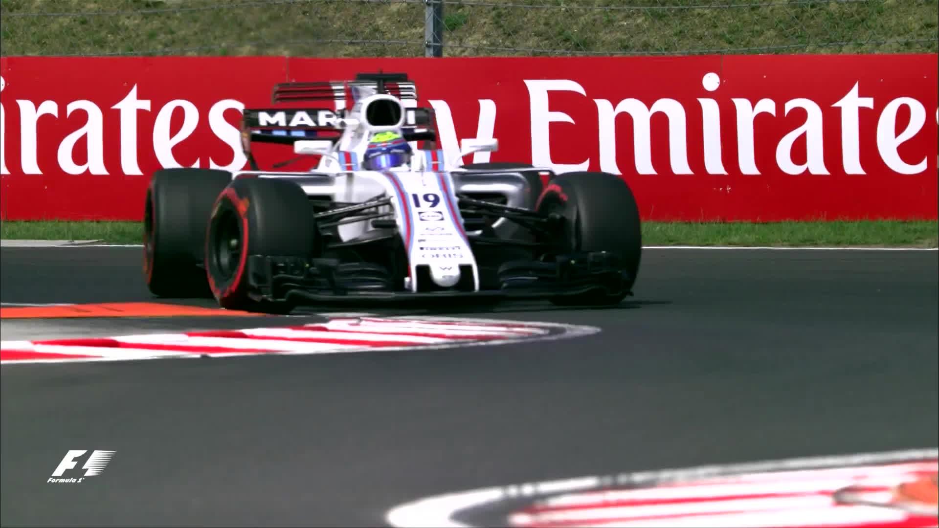 f1, formula 1, formula one, 2017 Hungary F1 Massa spins GIFs