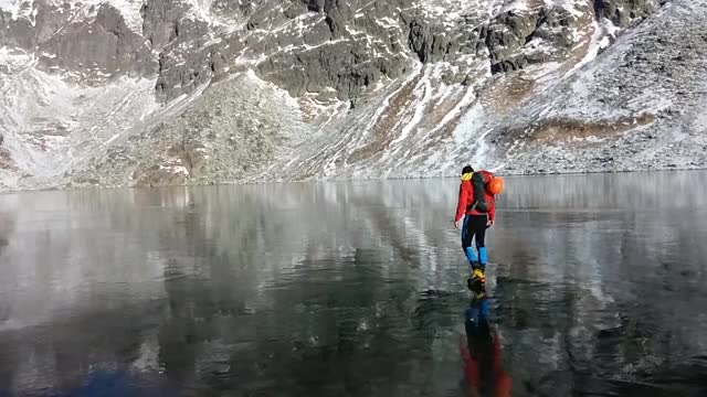 Watch and share Walking On Beautiful Clean Ice In Slovakian Mountains GIFs on Gfycat