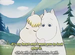 Watch and share Look At Them GIFs and Moomintroll GIFs on Gfycat